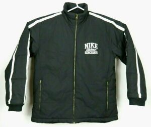 Nike-Men-039-s-Jacket-Size-L-Full-Zip-Black-Coat