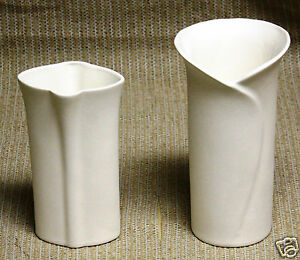 Ceramic-Bisque-Set-Bud-Vases-Evergreen-Mold-656-U-Paint-Ready-To-Paint