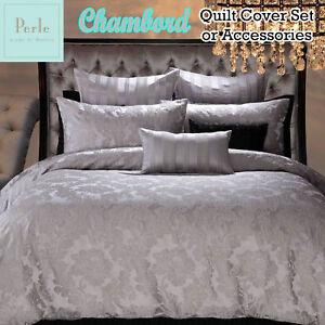 Linge De Maison Ebay.Details About Chambord Silver Grey Jacquard Quilt Cover Set Perle Linge De Maison Queen King