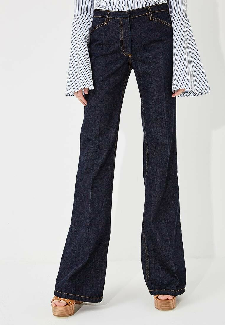 New Theory Demitira 2 D Denim Flare Pant Jeans Size 2 MSRP  275