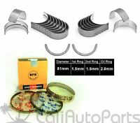 88-89 Toyota Mr2 1.6l Dohc 4agze Engine Npr Piston Rings + Main Rod Bearings Set
