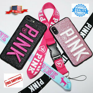 size 40 3923c 511e0 Details about Cute Victoria Secret Pink Bling Glitter Soft Case Cover for  iPhone 6,7,8,X