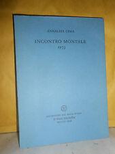 ANNALISA CIMA - INCONTRO MONTALE 1973 - ALL'INSEGNA DEL PESCE D'ORO - CON DEDICA