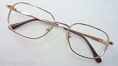 Occhiali Uomo Classico Semplicemente Semplicemente Oro Colorate Metallo Conveniente Nuovo Size M-mostra Il Titolo Originale