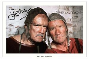 JOHN-CLEESE-AND-MICHAEL-PALIN-AUTOGRAPH-SIGNED-PHOTO-PRINT-MONTY-PYTHON