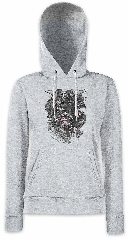 SAMURAI CHERRY BLOSSOMS Women Hoodie Sweatshirt Ninja Shogun Warrior Armor Japan