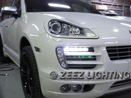 High Power Ultra Bright White LED Daytime Running Light DRL Lights Fog Lamp Kit
