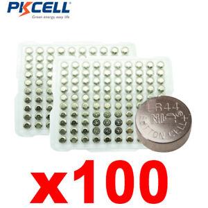 Alkaline-SG13-100-A76-AG13-LR44-Button-Batteria-Cellulare-orologio-per-orologios