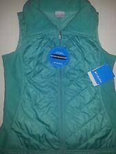 Columbia Womens Solid Mix It Around Vest Sz M Oceanic Mint Green Full Zip Front