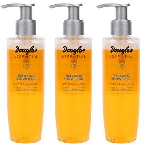 SET 3x Douglas Essential Duschöl Körperpflege MU0006 Mandelöl 200 ML