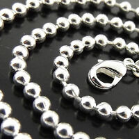 A335 GENUINE REAL STERLING SILVER S/F LADIES BEAD BALL LINK CUFF BRACELET BANGLE