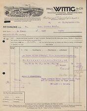 PLANTAGENGUT GÖPPERSDORF, Rechnung 1930, Obstwein-Kelterei Paul Wittig & Co.