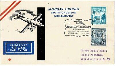 Budapest GroßE Vielfalt KöStlich Österreich Sonderbeleg Aua Eröffnungsflug Wien Briefmarken Lots & Sammlungen