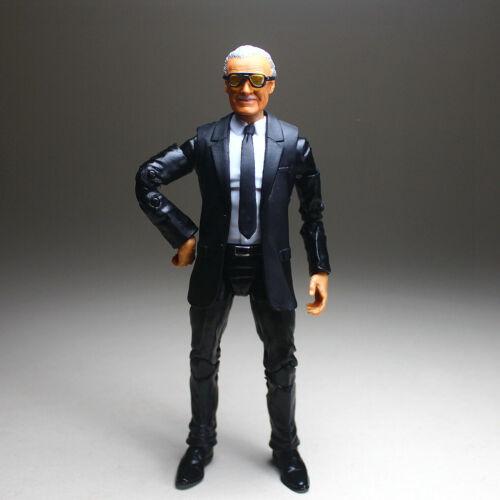 "Marvel Legends Custom Excelsior Stan Lee Head Sculp Suited Body 6/"" Action Figure"
