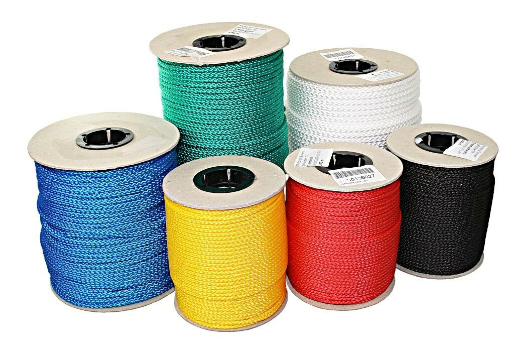 LINDEMANN Braided Rope Roll Yellow 100m 407kg Load