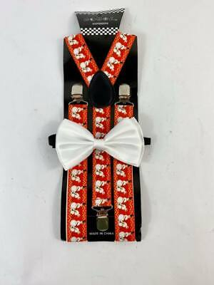Christmas Naughty Snowman Formal Wear Accessories Suspender and Bow Tie Adults