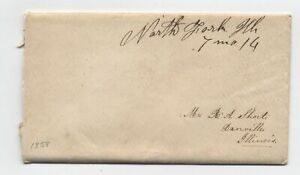 1858-North-Fork-IL-QUAKER-DATED-manuscript-postmark-cover-y5283