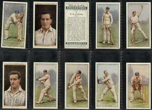CRICKET ERS 1929 EXC WILLS-FULL SET 2ND SERIES 50 CARDS
