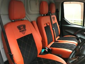 Ford Transit Custom Tourneo Single Double 12 on GREY Trim VAN Seat COVERS