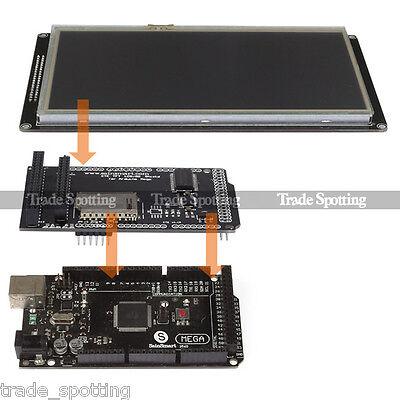 "SainSmart Mega2560 R3 + 7"" 480X800 TFT LCD Shield + Extend Board For Arduino"
