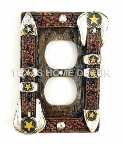 Western Star Belt Buckle Switch Plate Covers Electric Outlet Rustic Decor