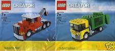 2x LEGO CREATOR Brickmaster TRUCKS Abschlepper + Müllauto 20008 20011