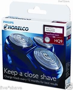 NEW-PHILIPS-NORELCO-HQ9-HQ-9-SPEED-SMART-TOUCH-XL-Shaver-Replacement-HEADS-SET