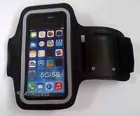 Verizon Iphone 5c 5s Black Neoprene Sport Workout Running Gym Armband Strap Case