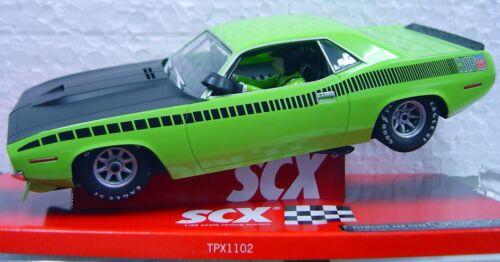 SCX 64380 TRANS AM LIME GREEN CUDA 1970 LIMITED EDITION SERIAL # 1//32 SLOT CAR