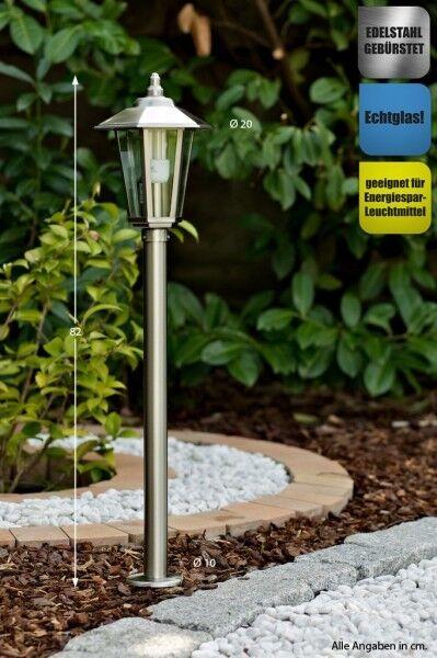 Illuminazione esterni lampione da giardino acciaio inox IP44 design moderno 8247