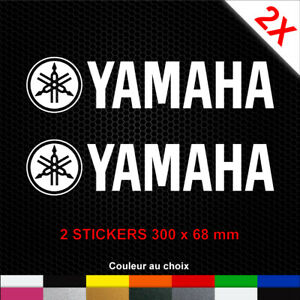 2-Stickers-YAMAHA-Autocollants-Moto-Adhesifs-Deco-Scooter-Becane