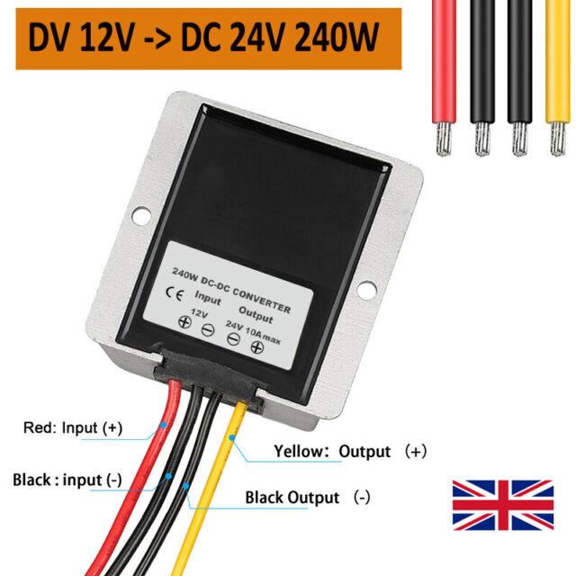 DC 12V to 24V 10A 240W Step Up DC DC Converter Voltage Regulator Boost Module