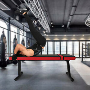 weight flat bench chest biceps press abs gym fitness