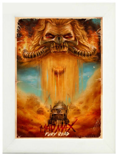 Framed Option A3 A4 Sizes Mad Max Fury Movie Poster or Canvas Art Print
