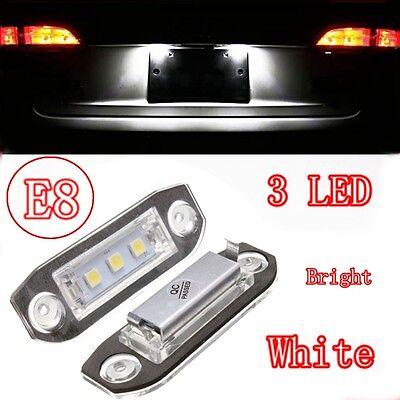 2x Rear LED Number License Plate Light Lamp For Volvo V50 V60 S40 XC60 NO ERROR