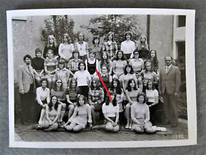 Mädchen  Schulmädchen Minirock Klassenfoto 1972- Foto  Alt & ORIGINAL ..