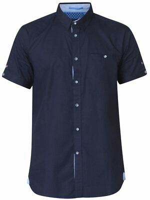 D555 Short Sleeve Hidden Button Down Shirt With Pocket (tim)