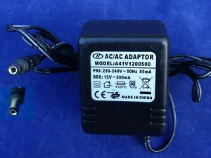Adapter-Ladegeraet-A41V1200500-12VAC-0-5A-5-5mm-2-5mm