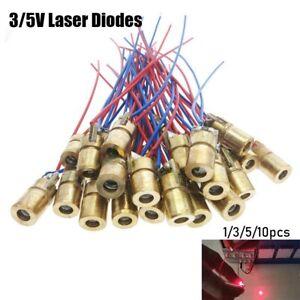 watt Red Sight Dot Diode Module Laser diodes 650nm 6mm 3//5V Adjustable Lasers