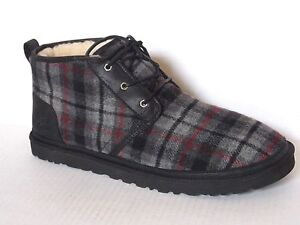 be9e14cb86b Details about UGG Mens NEUMEL Chukka ankle boots Tartan Plaid Wool  /Shearling lined US 18 /52