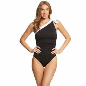 0de83efbe6749 Lauren by Ralph Lauren Bel Aire Slimming Fit One Shoulder One Piece ...