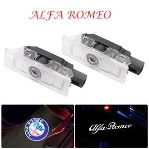 Fit-Alfa-Romeo-Cree-LED-Projector-Car-Door-Light-Courtesy-Entrying-logo-light