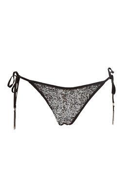 Fornitura Agent Provocateur Women's Lucida Con Cinturini Pezzo Di Sotto Del Bikini Nero Rrp £ 65 Bcf88-mostra Il Titolo Originale