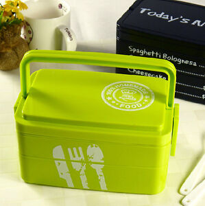 cute 3tier japanese bento lunch box food container portable bento box ebay. Black Bedroom Furniture Sets. Home Design Ideas