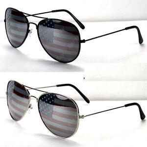 d96a25ff2c8 New Mens Womens Patriotic American Flag USA Lens Sunglasses Pilot ...