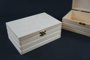 1-x-Plain-Wooden-Jewellery-Memory-Chest-Keepsake-Box-Trinket-Storage-P2115