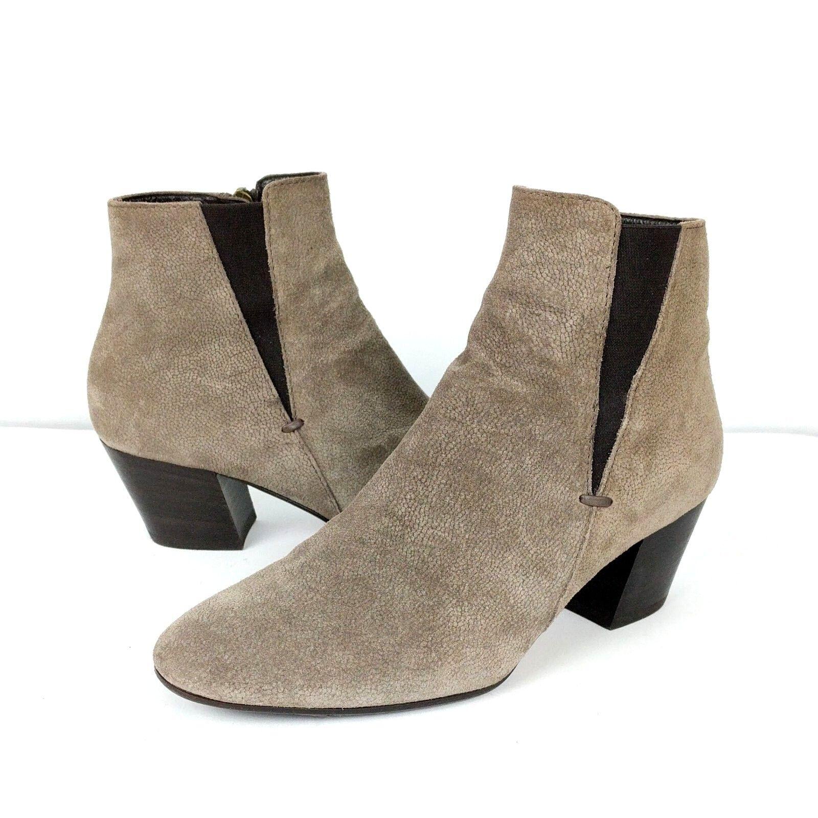 Aquatalia damen Größe 6 Stiefelies Faylynn Taupe Suede Texturot Ankle Stiefel