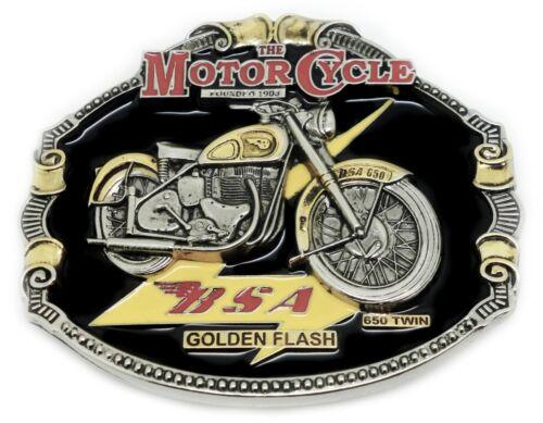 BSA Belt Buckle Golden Flash 24ct GOLD /& Colour Bike Classic Motorcycle Licensed