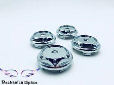 4pcs 68mm Chrome Wheel Hubs Center Hub Cap Universal Wheel Rim Hub Cover Caps