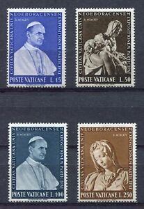s9827-VATICANO-MNH-1964-Expo-New-York-4v-Sculptures-Art-Michelangelo